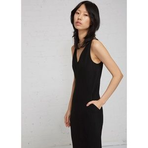 NWT Rick Owens Kinga Black Midi Dress - Size 42